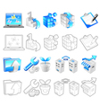 Internet business icon sets vector