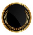 Black medal old laurels vector