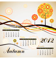 Tree autumn calendar 2012 vector