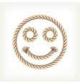 Rope smiley vector