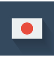 Flat flag of japan vector