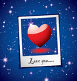Love heart concept vector