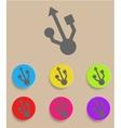 Usb symbol - flat design vector