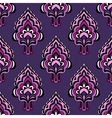 Purple damask flower seamless vintage vector