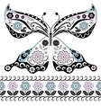 Vintage decorative butterfly vector
