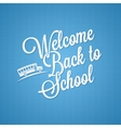 Back to school vintage lettering background vector