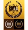 Royal laurel wreath icons vector