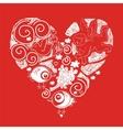 Doodle heart vector