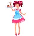 Cute waitress vector