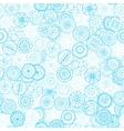 Colored circle seamless pattern vector
