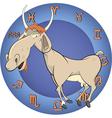 The year of the goat horoscope cartoon vector