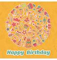 Happy birthday card birthday party background vector