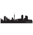 Auckland new zealand skyline detailed silhouette vector