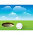 Golf putting green background vector