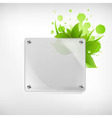 Eco glass background vector