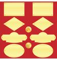 Golden nameplate set vector