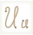 Rope alphabet letter u vector