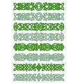 Green celtic ornament elements vector