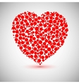 Heart icon made of circles vector