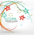 Autumn floral minimal background vector