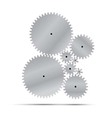 Silver gear and cogwheel vector