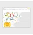 Browser design with responsive website vector