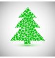 Christmas tree icon made of circles vector