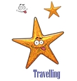Cartoon ocean starfish character vector