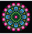 Polish traditional circle folk art pattern vector