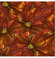 Orange pansy flowers seamless background vector