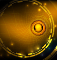 Hi tech gold abstract background vector