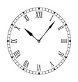 Black and white clock face vector