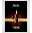 Cover poster face wine red vine grape ornament vector
