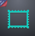 Photo frame template icon symbol 3d style trendy vector