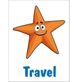 Travel poster with a starfish vector