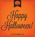 Jack olantern retro typographic halloween vector