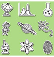 Science icons - hand-drawn sticker vector