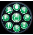Button green vector