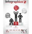 Infographics modern business bubble icon man style vector