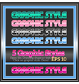 Set of bright colorful graphic styles vector