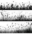 Grass line set vector