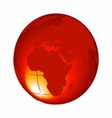 3d orange globe isolated on white background vector