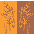 Women dance vector
