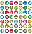 Money icons isolated on white background set vector