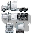 semi truck vector