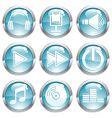 Set music gloss button vector