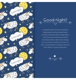 Border with images cute sheep on background night vector