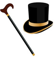 Walking stick and cylinder vector