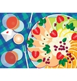 Fruit platter with wine vector
