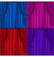 Colored curtains background vector
